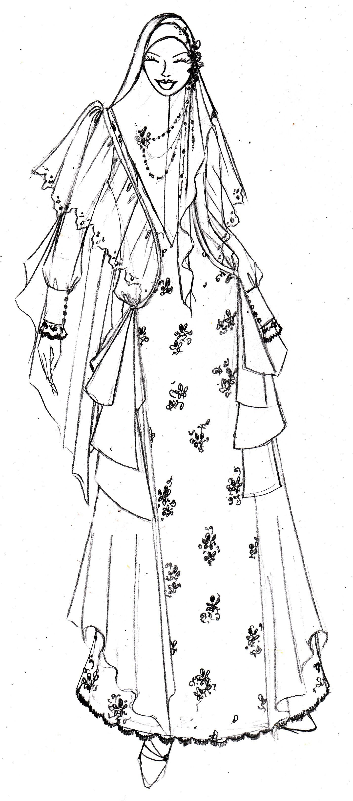 Contoh Gambar Desain Baju Muslim - Model Hijab Terbaru