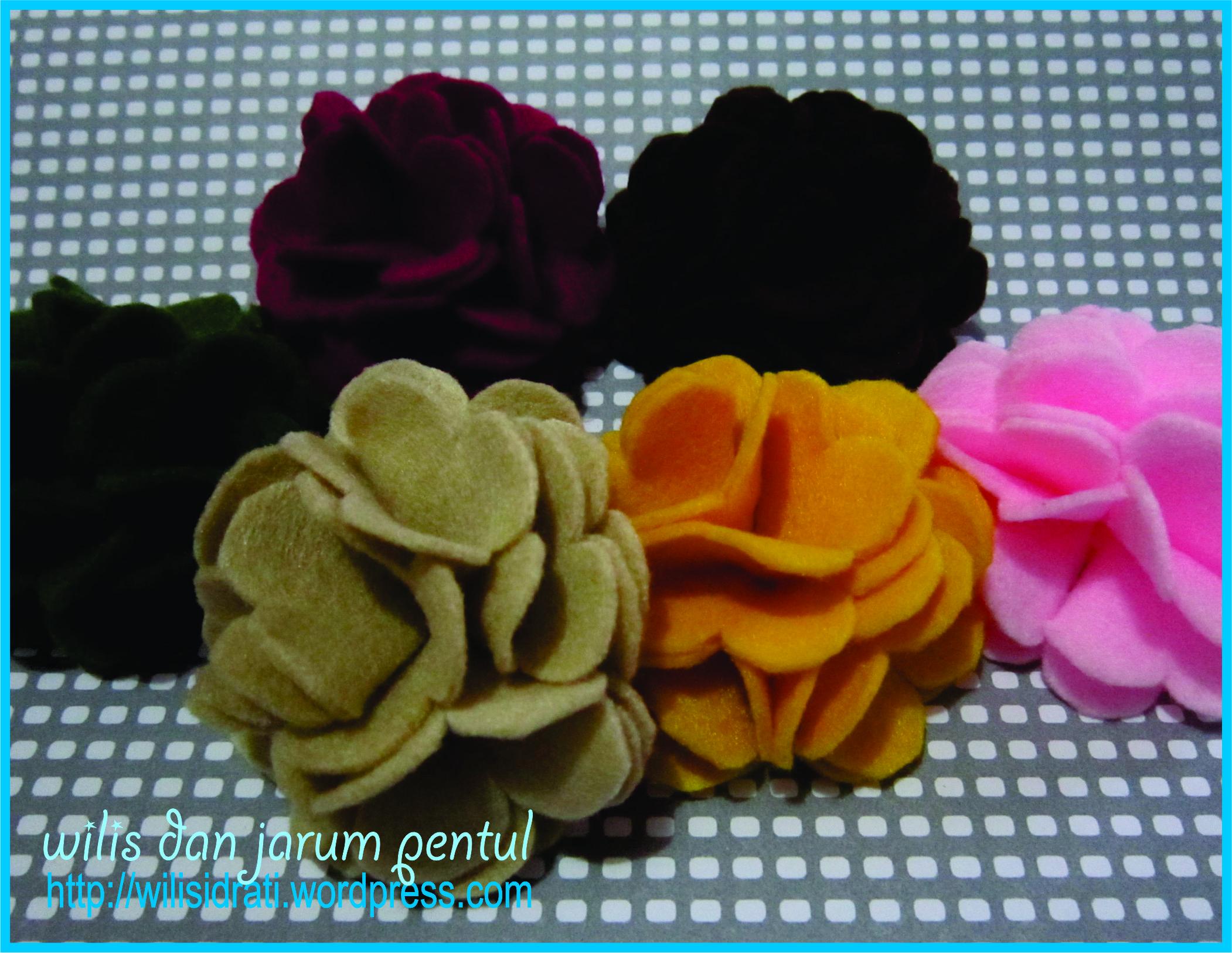 Tutorial : Korsase Bunga Flanel (seperti bunga keriting… ^^)