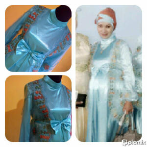 Dress Brokat Ibu Hamil Wilis Dan Jarum Pentul